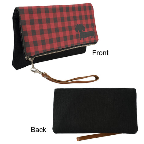 Buffalo Plaid Dachshund Fold-Over Clutch - The Smoothe Store - 2