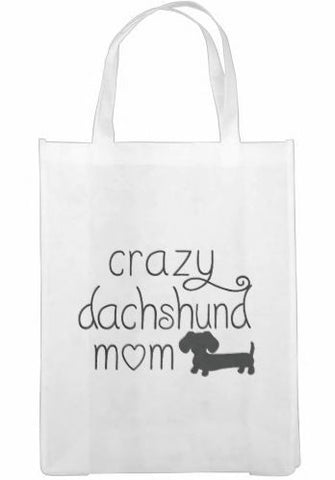 Crazy Dachshund Mom Tote Bags, The Smoothe Store