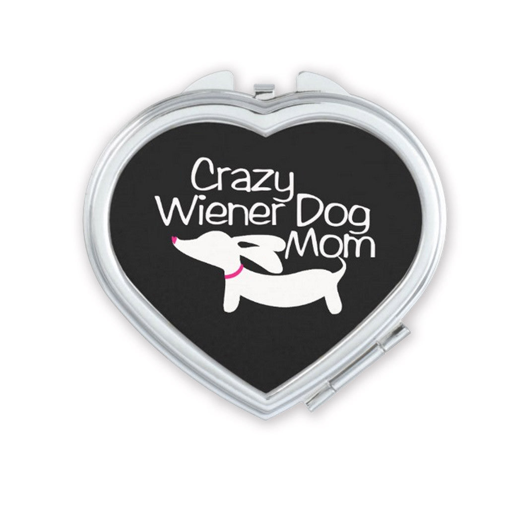 Crazy Wiener Dog Mom Compact Mirror, The Smoothe Store