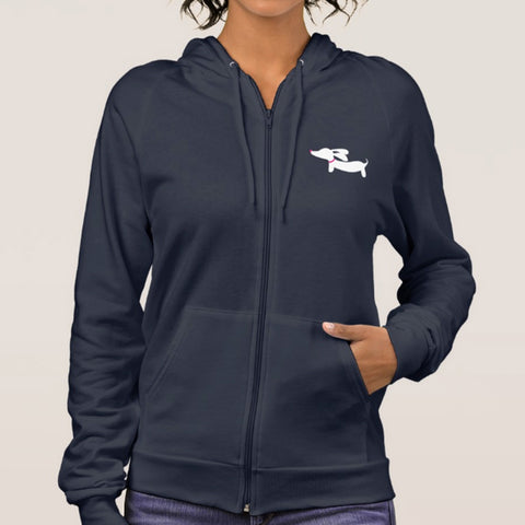 Crazy Wiener Dog Mom American Apparel Hoodie Jacket - The Smoothe Store - 4