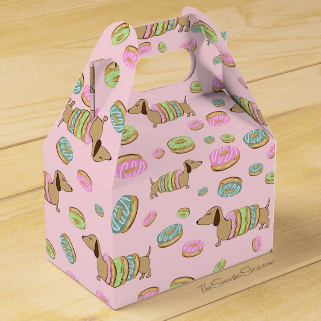 Dachshunds and Donuts Party Favor Box, The Smoothe Store