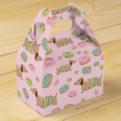 Dachshunds and Donuts Party Favor Box