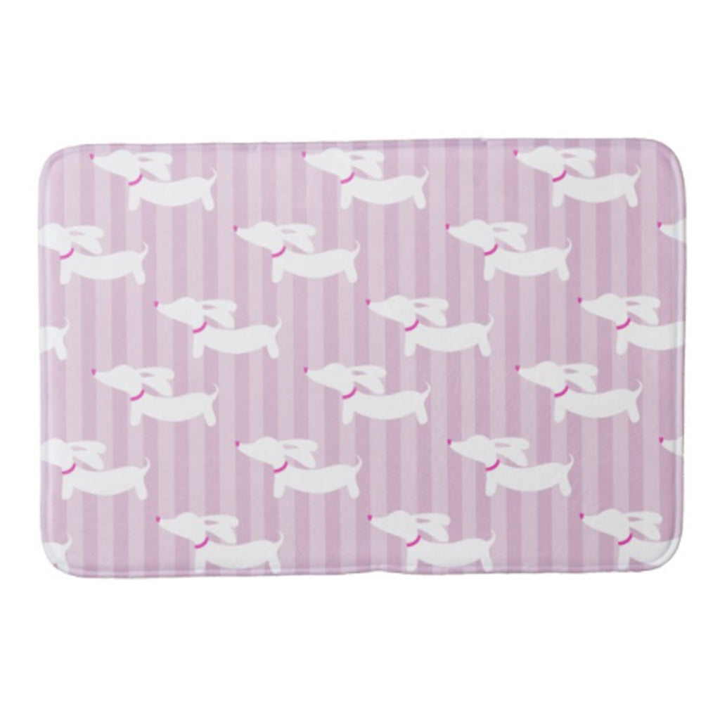 Wiener Dog Bathroom Bath Mats, The Smoothe Store