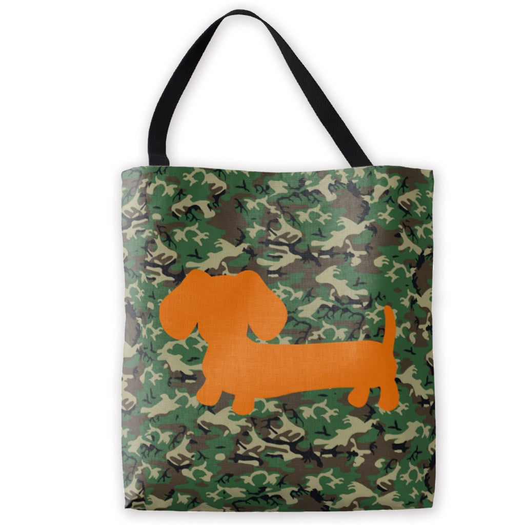 Wiener Dog Camo Tote Bag - The Smoothe Store
