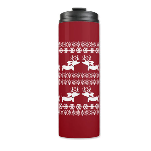 Fair Isle Dachshund Thermal Tumbler