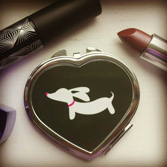 Dachshund Heart Compact Mirror, The Smoothe Store