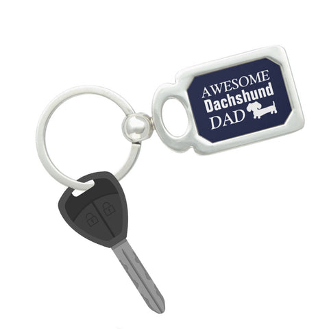 Awesome Dachshund Dad Keyring