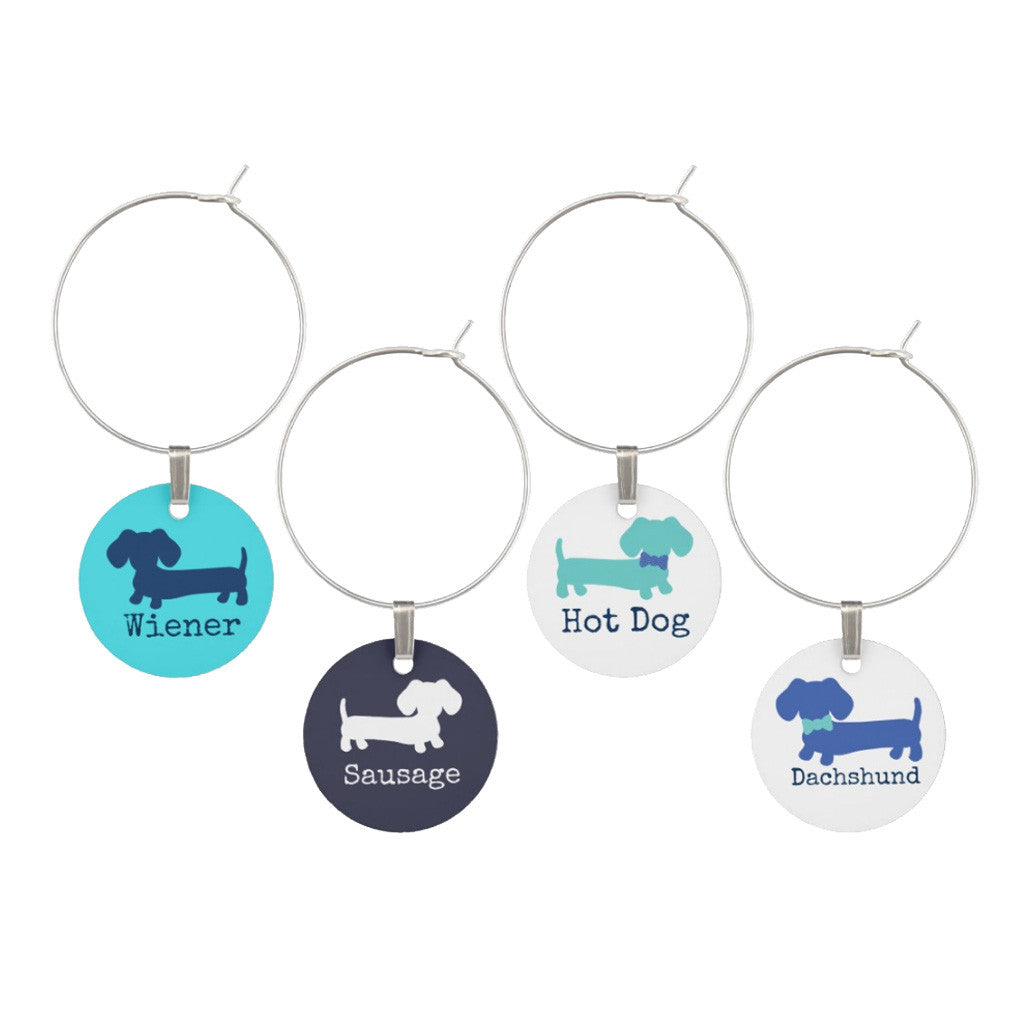 Dachshund Wine Glass Charms, The Smoothe Store