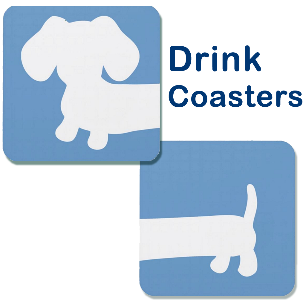 Cheeky Wiener Dog Drink Coaster Set, The Smoothe Store