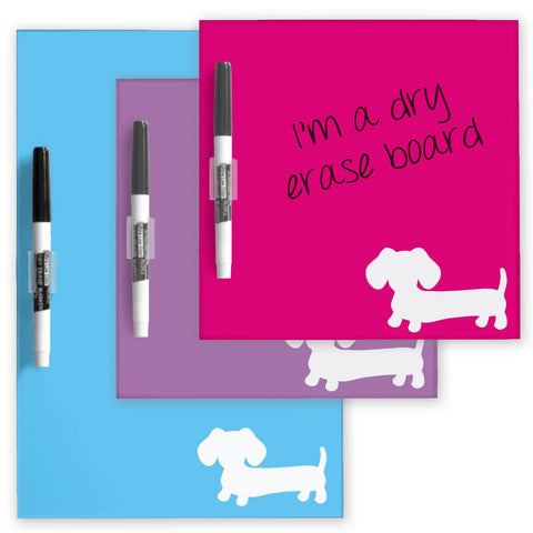 Dachshund Dry Erase Boards - Lots of Color Choices