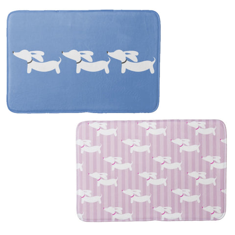 Wiener Dog Bathroom Bath Mats