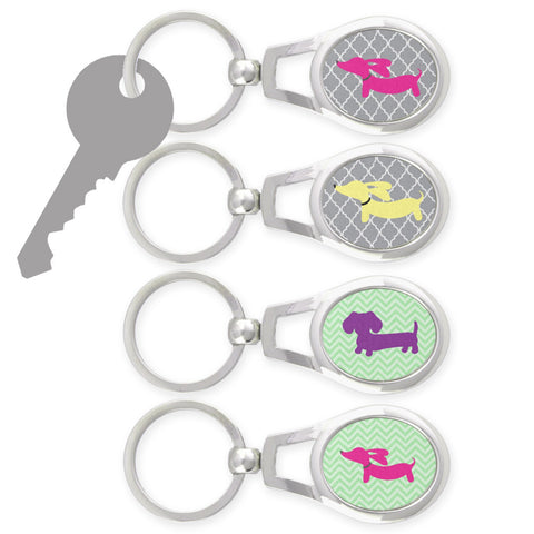 Dachshund Key Rings for Doxie Moms