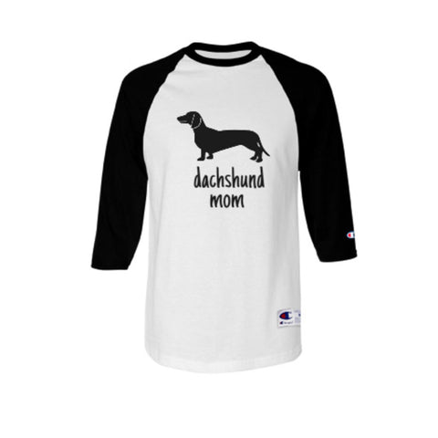 Dachshund Mom Baseball Style Shirt
