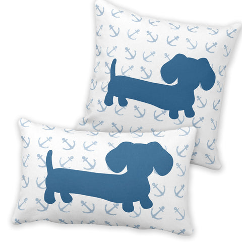 Nautical Dachshund Pillow