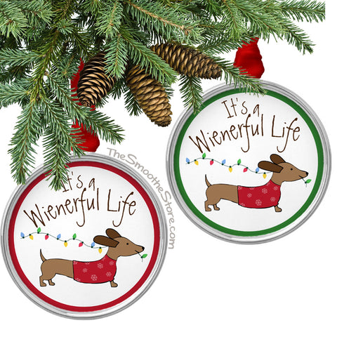 It's a Wienerful Life Dachshund Christmas Tree Ornament, The Smoothe Store