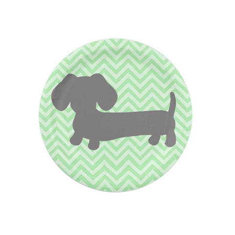 Doxie Dog Paper Plates, The Smoothe Store