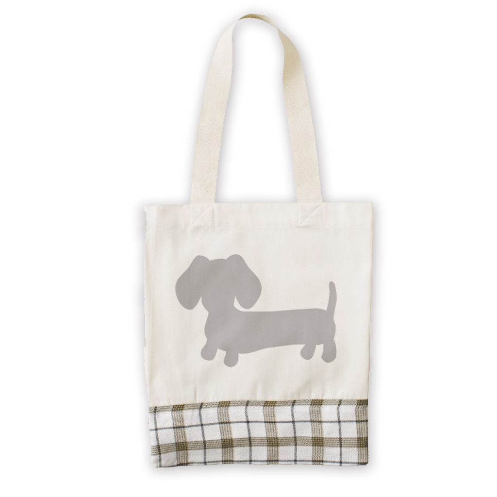 Dachshund Tote Bag Made from East African Cotton, The Smoothe Store