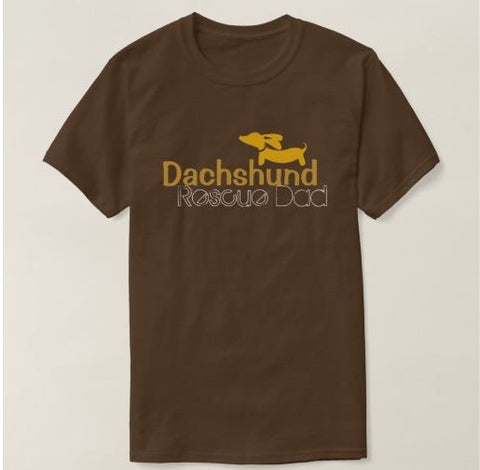 Dachshund Rescue Dad Shirt