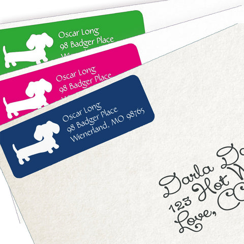 Dachshund Return Address Labels - Lots of Colors, The Smoothe Store
