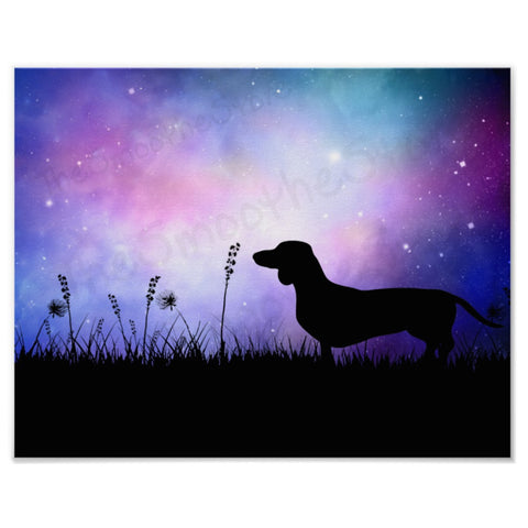 Dachshund Art Prints Starry Night or Sunrise
