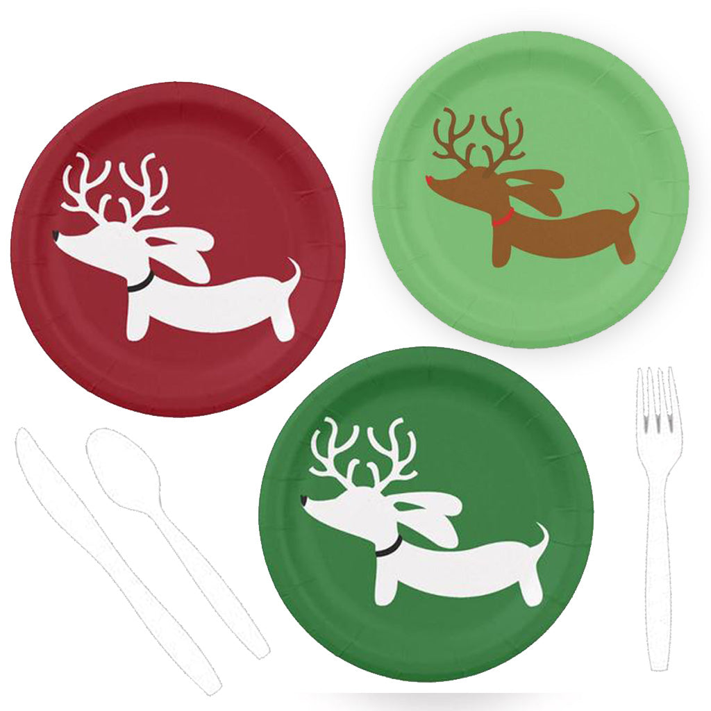 Reindeer Dachshund Christmas Paper Plates The Smoothe Store  sc 1 st  The Smoothe Store & Reindeer Dachshund Christmas Paper Plates \u2013 The Smoothe Store