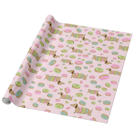 Doxies and Donuts Gift Wrapping Paper