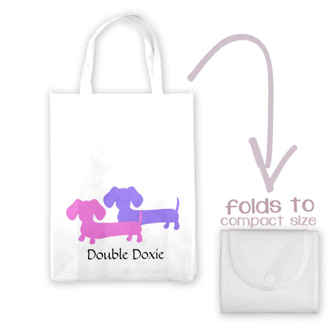 Double Doxie Lightweight Tote Bag