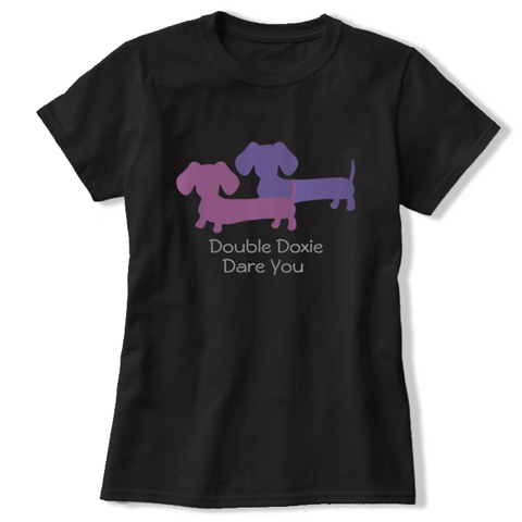 Double Doxie Dare You t-shirt