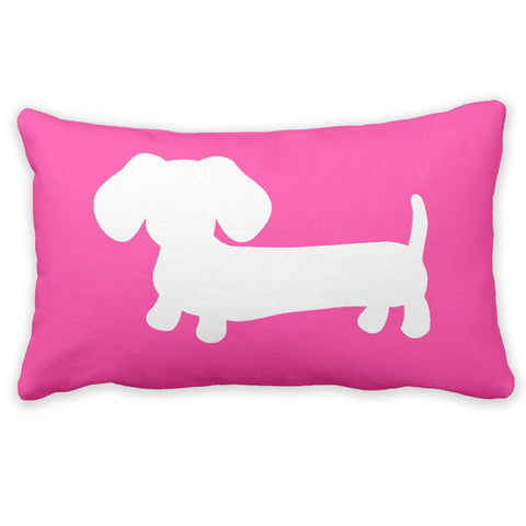 Pink & White Dachshund Pillow - The Smoothe Store - 3