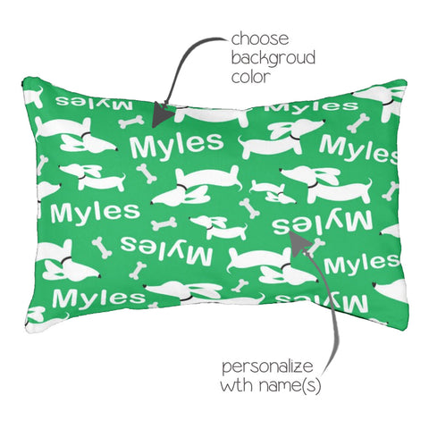 Personalized Wiener Dog Bed