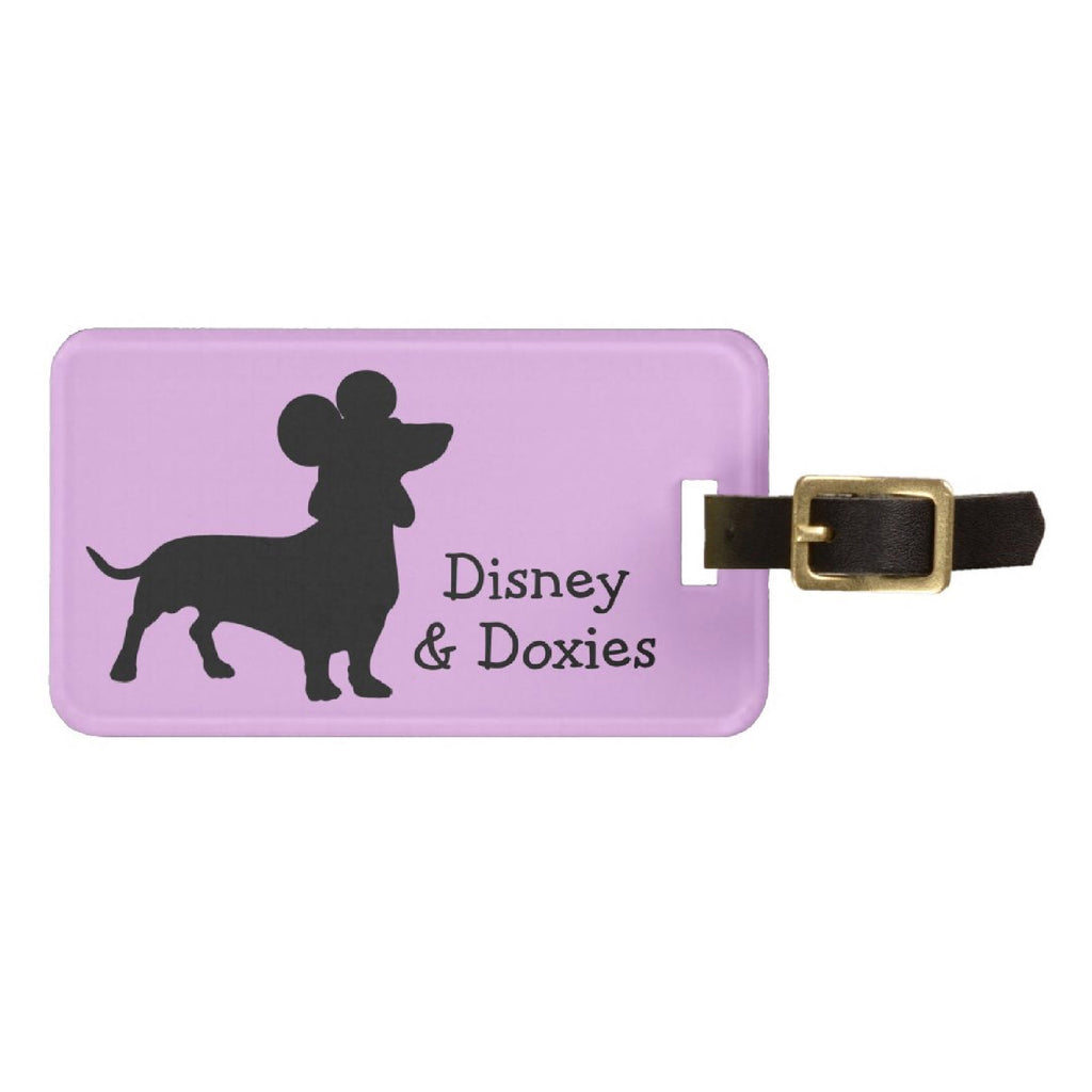 Disney & Doxies Luggage Tag | Dachshund Gifts