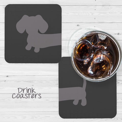 Cheeky Wiener Dog Drink Coaster Set