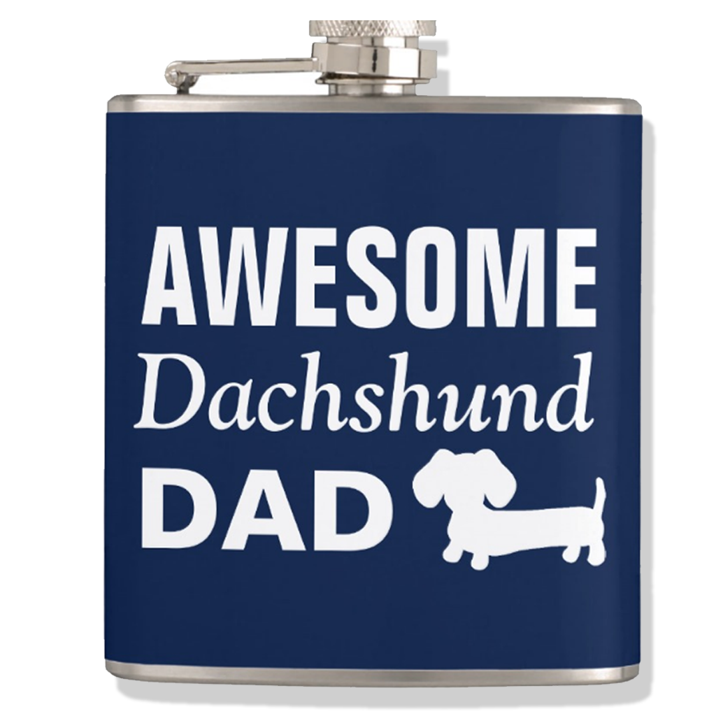Awesome Dachshund Dad Flask, The Smoothe Store