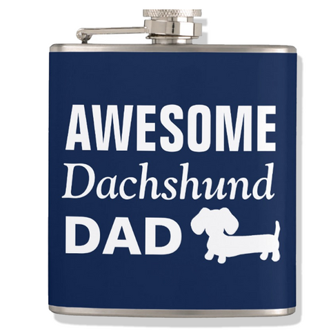 Awesome Dachshund Dad Flask