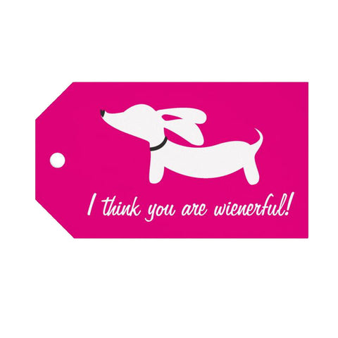"""I think you are wienerful!"" Dachshund Gift Tags, The Smoothe Store"