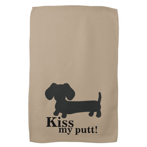 Kiss My Putt Wiener Dog Golf Towel - The Smoothe Store - 2