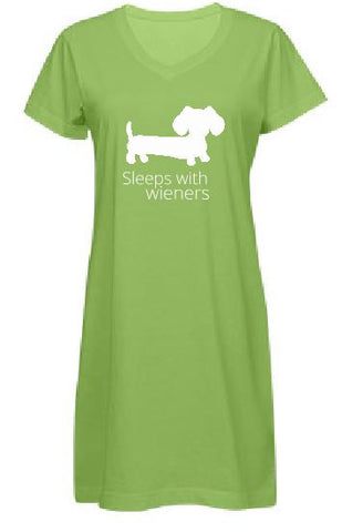 Sleeps With Wieners Dachshund Night Shirt - The Smoothe Store - 4