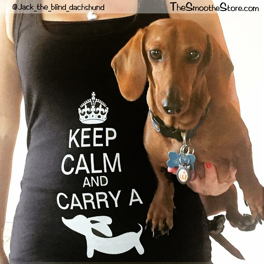 Keep Calm and Carry a Wiener Dog Tank Top, The Smoothe Store