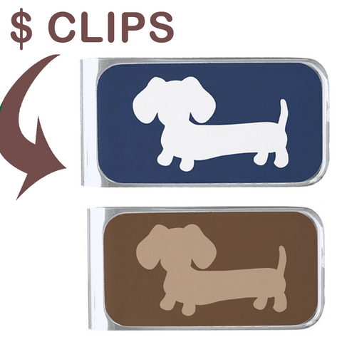 Men's Dachshund Money Clip