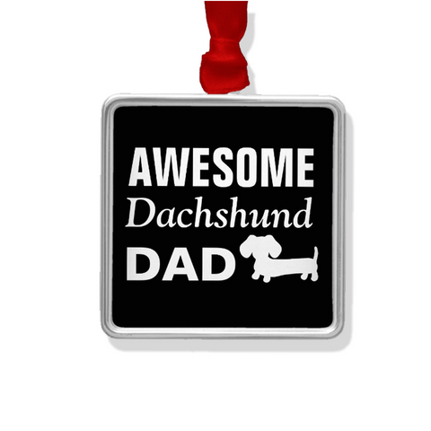Awesome Dachshund Dad Rear View Mirror Car Charm