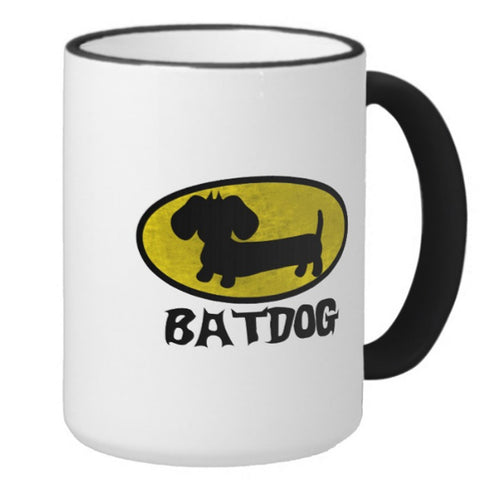 Batdog Superhero Coffee Mug