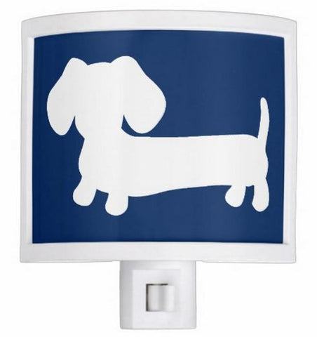 Navy Dachshund Nursery Night Light