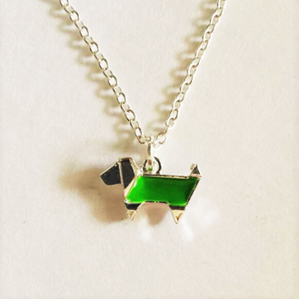 Art Deco Dachshund Necklace