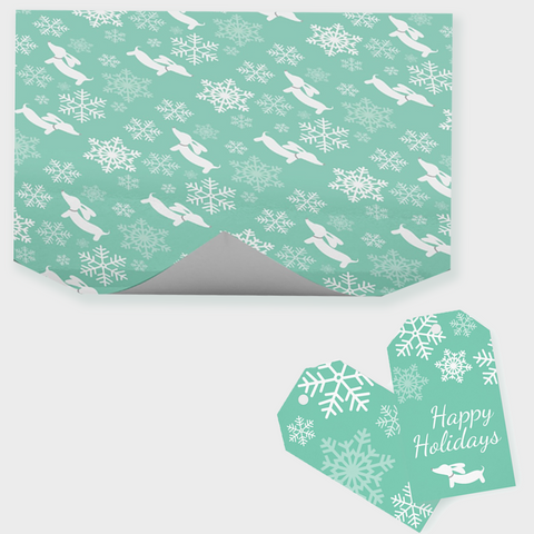 Snowflakes & Dachshunds Wrapping Paper
