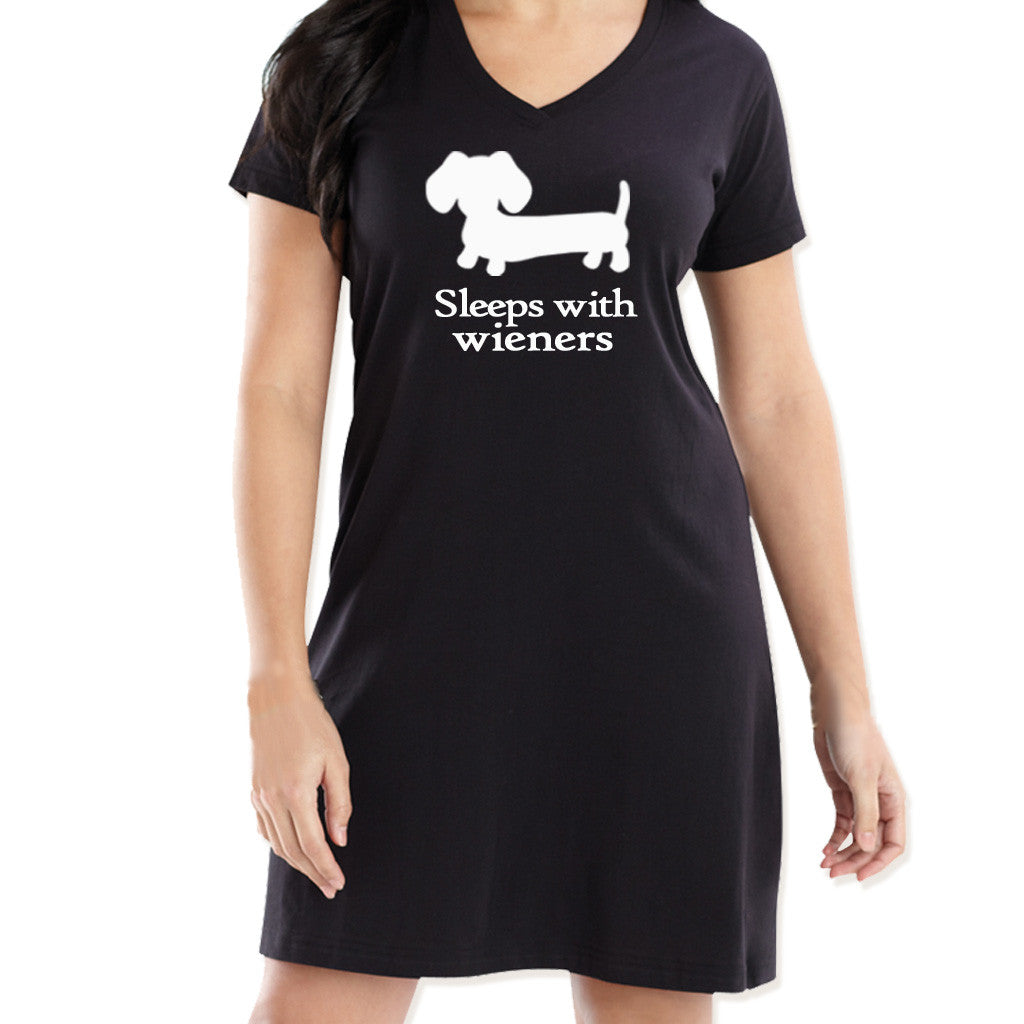 Sleeps With Wieners Dachshund Night Shirt - The Smoothe Store - 2