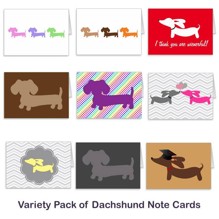 Gift Set of Dachshund Note Cards, The Smoothe Store