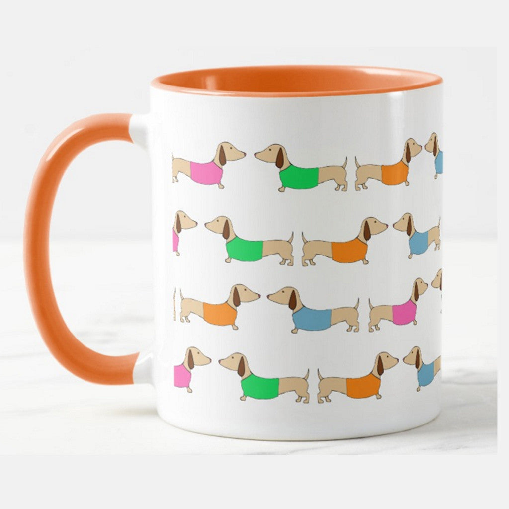 Colorful Dachshund Coffee Cups – The Smoothe Store