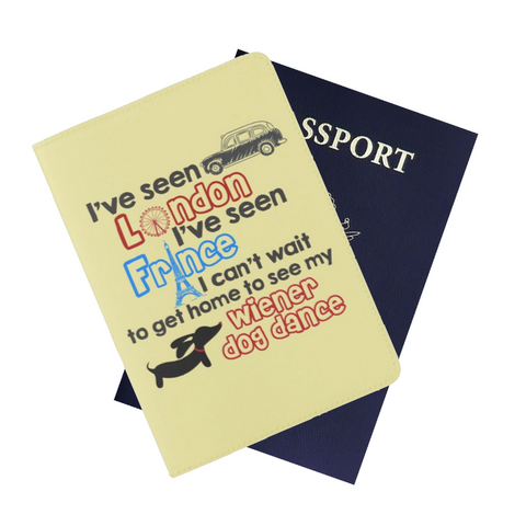 Cheeky London, France, Wiener Dog Dance Passport Cover