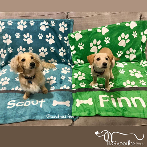 Personalized Dog Blanket - Paw Prints, The Smoothe Store