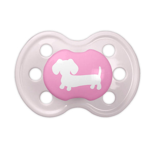 Pink Wiener Dog Pacifiers for Baby, The Smoothe Store